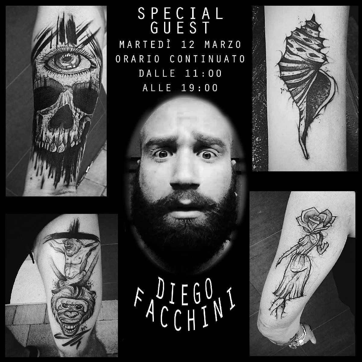 Diego Facchini Tattooer | Special Guest| Inside Tattoo Shop di Donna Mayla | Alba Adriatica | Tatuaggi | Piercing