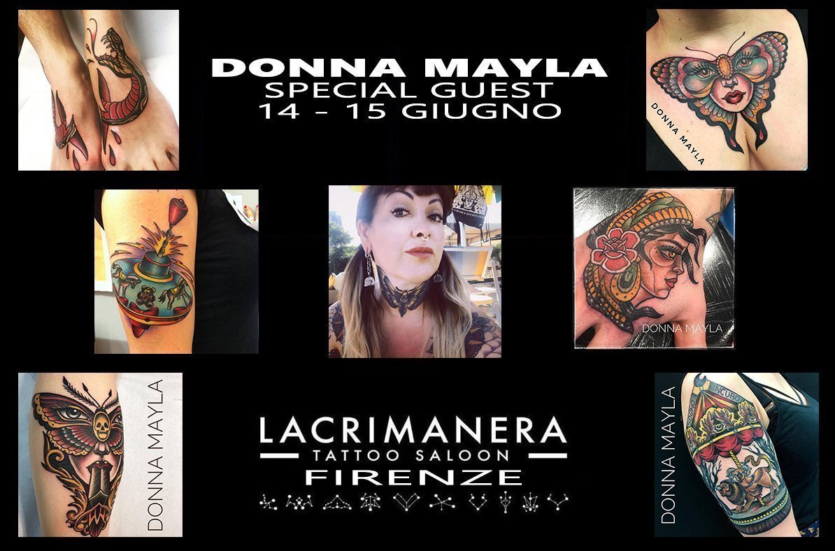 Donna Mayla | Special Guest | Lacrimanera Tattoo Saloon | Firenze