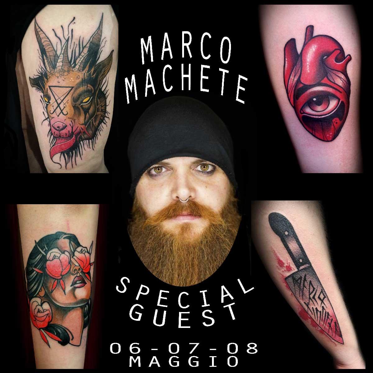 Marco Machete Tattooer | Special Guest| Inside Tattoo Shop di Donna Mayla | Alba Adriatica | Tatuaggi | Piercing