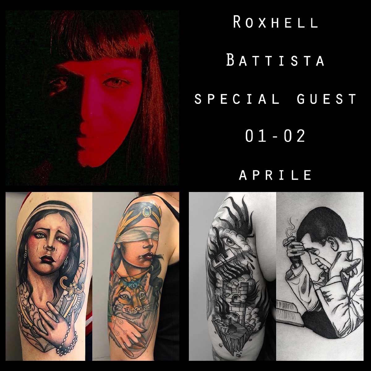 Roxhell Battista Tattooer | Special Guest| Inside Tattoo Shop di Donna Mayla | Alba Adriatica | Tatuaggi | Piercing